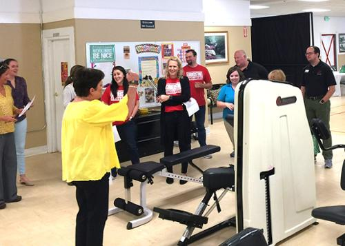 Senior Connection hosted a luncheon on Tuesday, August 6, to show appreciation to various physical therapy businesses located in Chilton County. The therapists were shown around the the Senior Connection facility including the exercise equipment and the walking track.